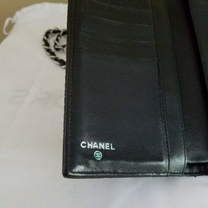CHANEL Bags - Chanel Quilted Perforated Wallet Converted